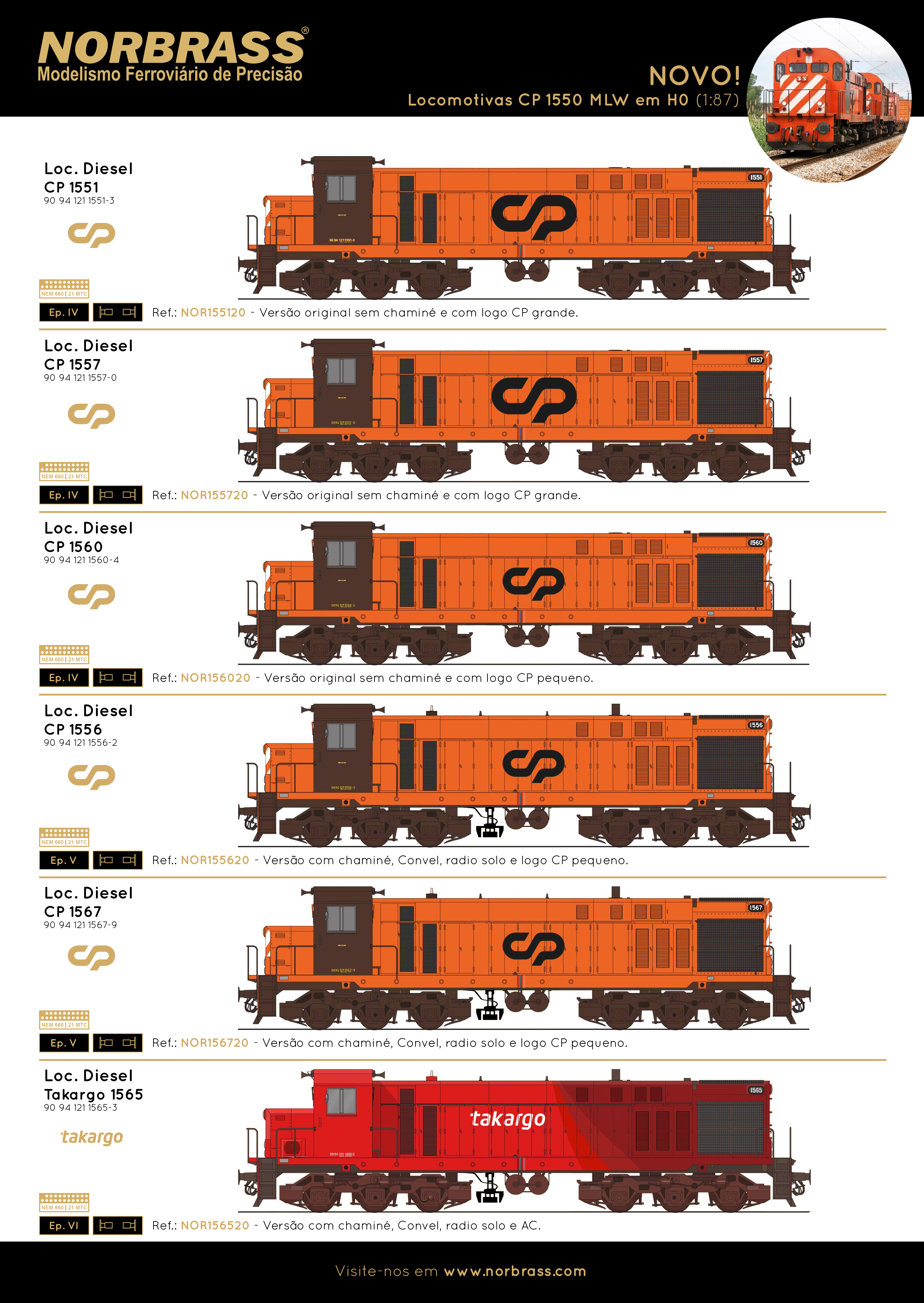 CP 1550 MLW Locomotives